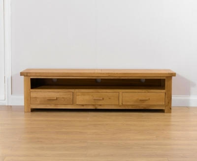 Clearance Mark Harris Avignon Solid Oak Large TV Unit