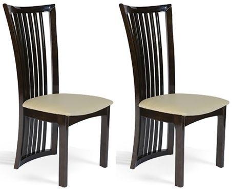Clearance - Mark Harris Ronda Brown Dining Chair (Pair) - New - FSS9224