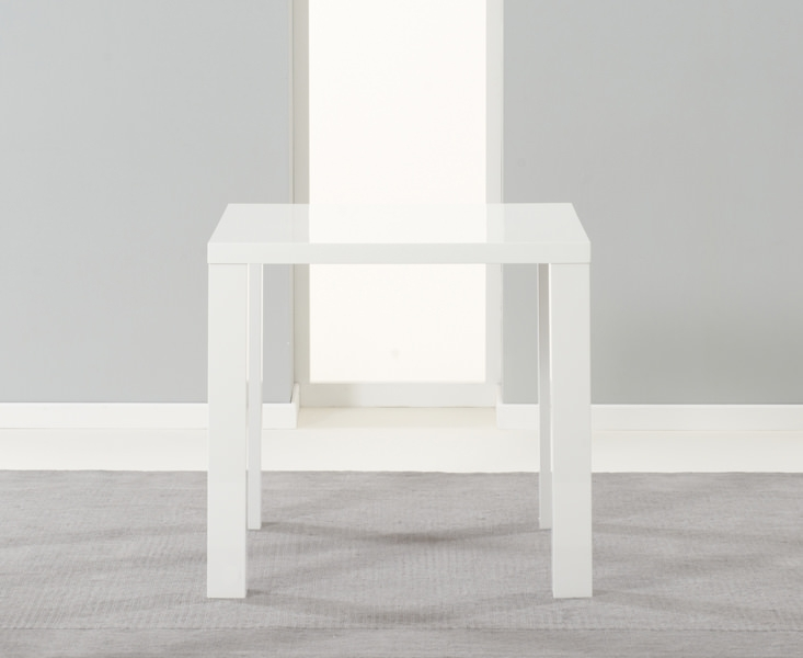 Clearance Mark Harris Ava White High Gloss Dining Table - 80cm - G99