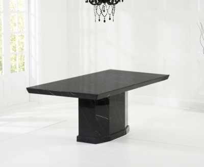 Mark Harris Como Black Engineered Marble Large Dining Table