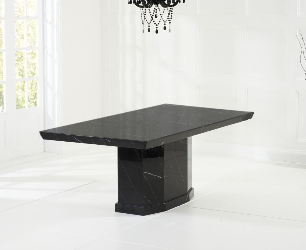 Mark Harris Como Black Marble Large Dining Table