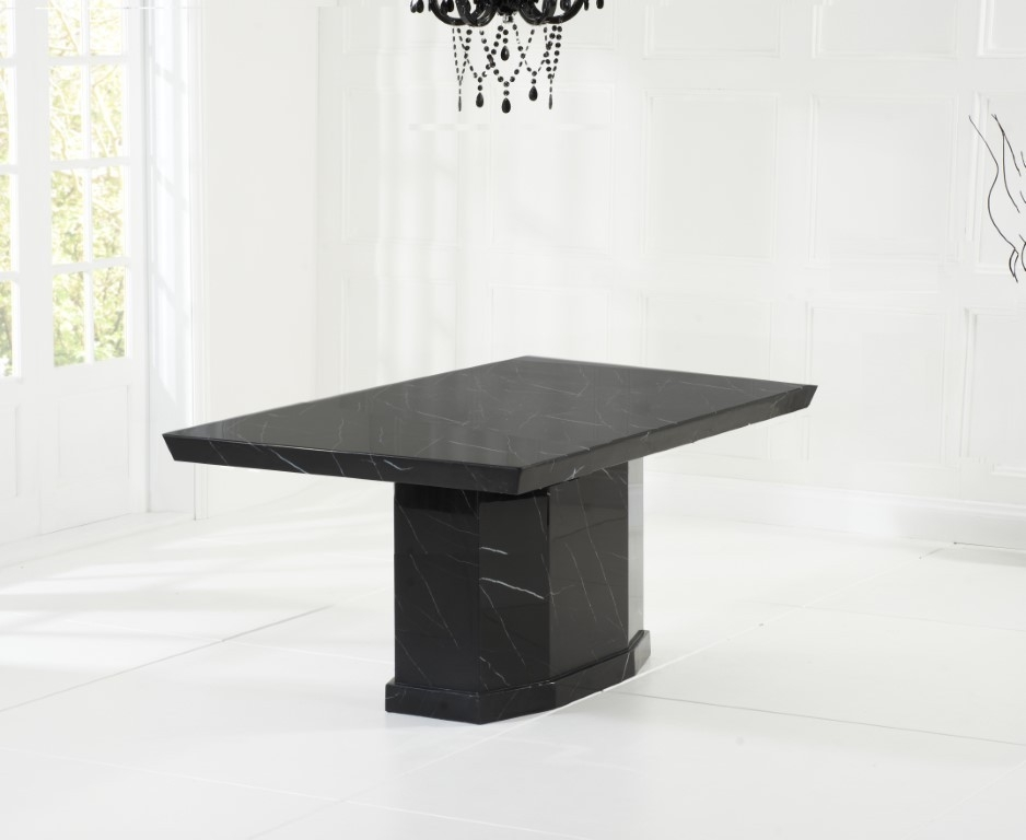 Mark Harris Como Black Marble Dining Table