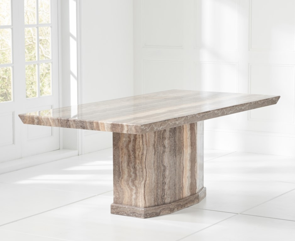 Mark Harris Como Brown Marble Dining Table