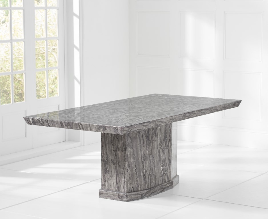 Mark Harris Como Grey Marble Dining Table