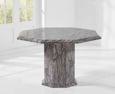 Mark Harris Coruna 120cm Grey Marble Octagonal Dining Table