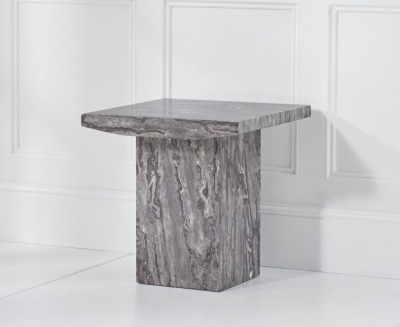 Mark Harris Coruna Grey Marble Lamp Table