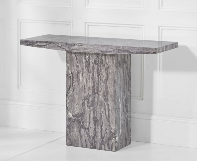 Mark Harris Coruna Grey Marble Console Table