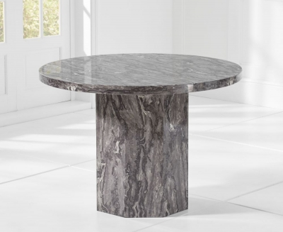 Mark Harris Coruna 110m Grey Marble Round Dining Table