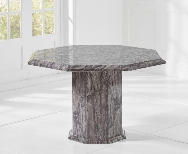 Mark Harris Coruna 120cm Grey Marble Octagonal Dining Table