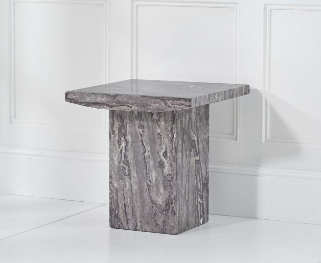 Mark Harris Coruna Grey Marble Lamp Table