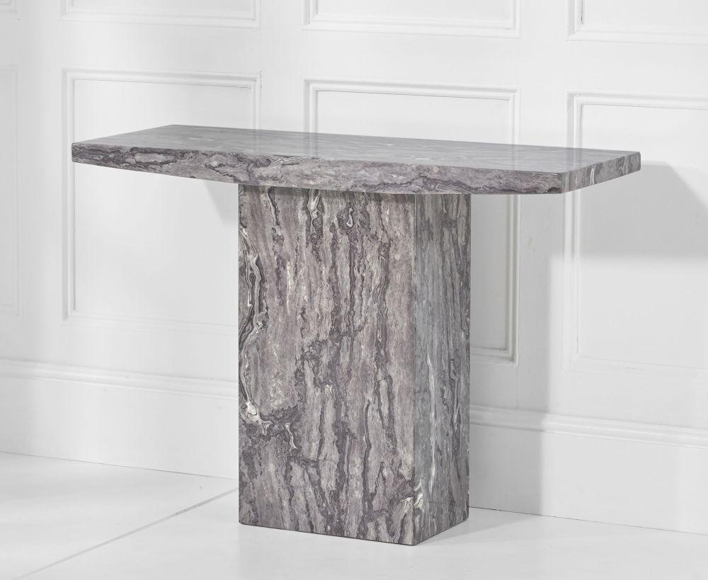Mark Harris Coruna Grey Engineered Marble Console Table