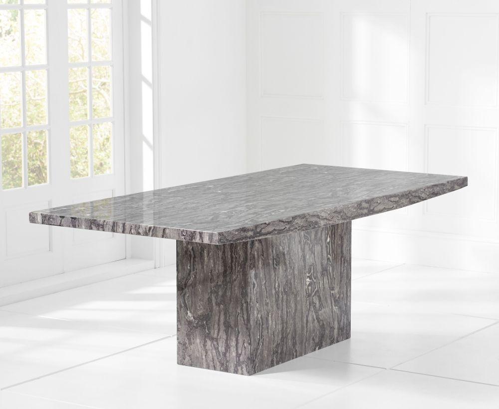 Mark Harris Coruna 160cm Grey Marble Dining Table Cfs Furniture Uk