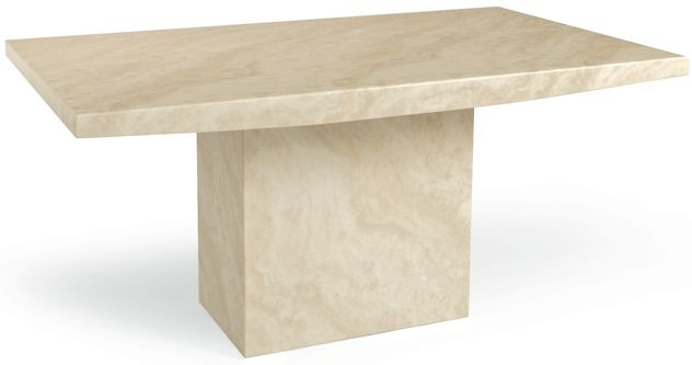 Mark Harris Coruna Cream Marble Medium Dining Table