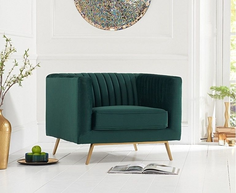 Mark Harris Danielle Green Velvet Armchair