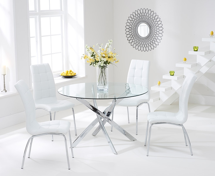 cream leather tufted dining chairs search