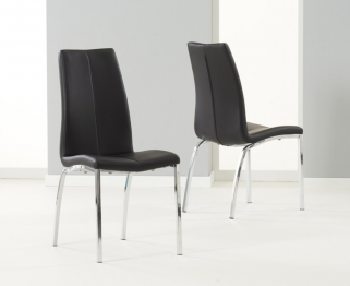 Mark Harris Carsen Black Dining Chair (Pair)
