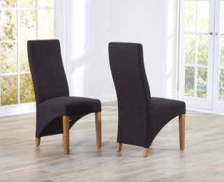 Mark Harris Harley Charcoal Dining Chair (Pair)