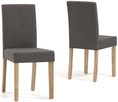 Mark Harris Maiya Brown Weave Fabric Dining Chair (Pair)