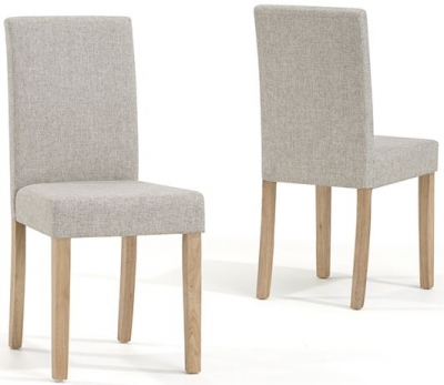 Mark Harris Maiya Cream Weave Fabric Dining Chair (Pair)