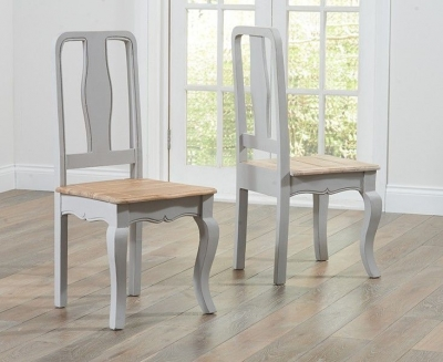 Mark Harris Sienna Grey Painted Dining Chair (Pair)