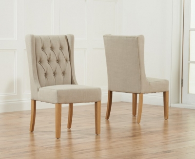 Mark Harris Stefini Dining Chair - Beige (Pair)