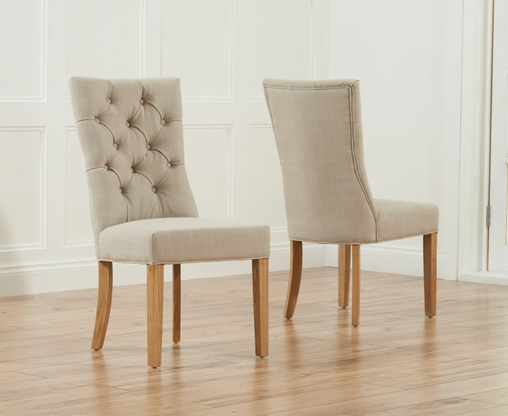 Mark Harris Albury Beige Dining Chair (Pair)