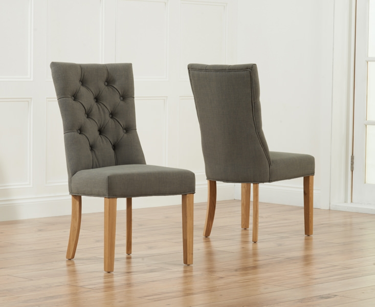 Buy Mark Harris Albury Grey Dining Chair Pair Online CFS UK