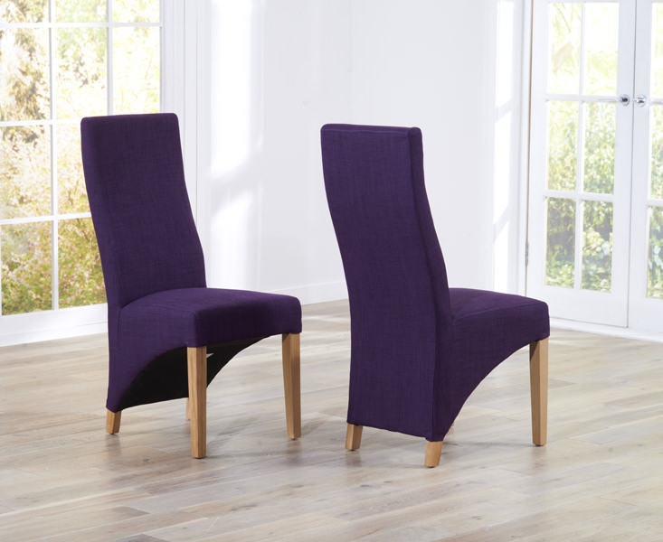 Mark Harris Harley Plum Dining Chair (Pair)