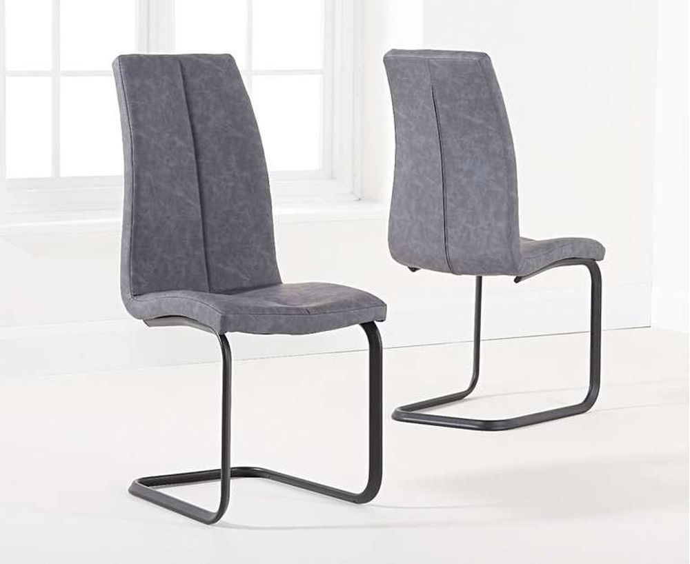 Mark Harris Louisa Antique Grey Fabric Dining Chair (Pair)