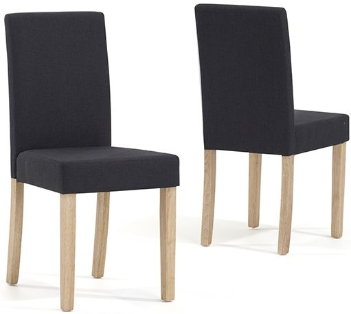 Mark Harris Maiya Black Weave Fabric Dining Chair (Pair)