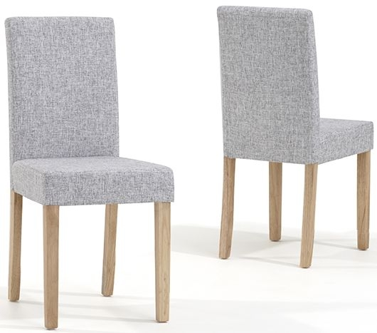 Mark Harris Maiya Grey Weave Fabric Dining Chair (Pair)