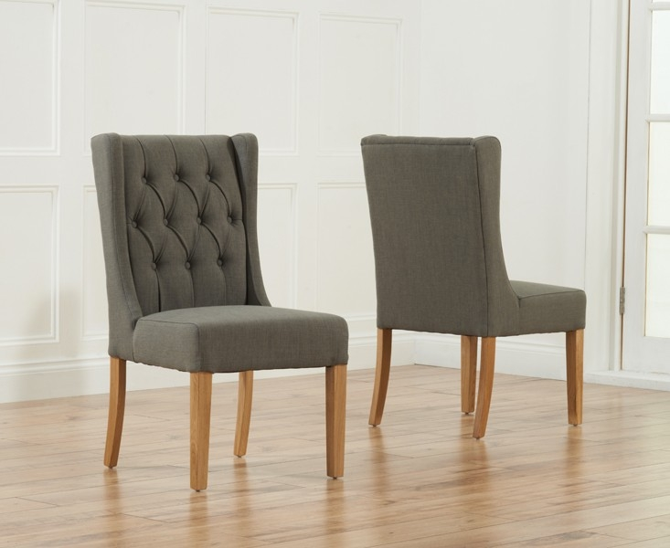 Mark Harris Stefini Dining Chair - Grey (Pair)