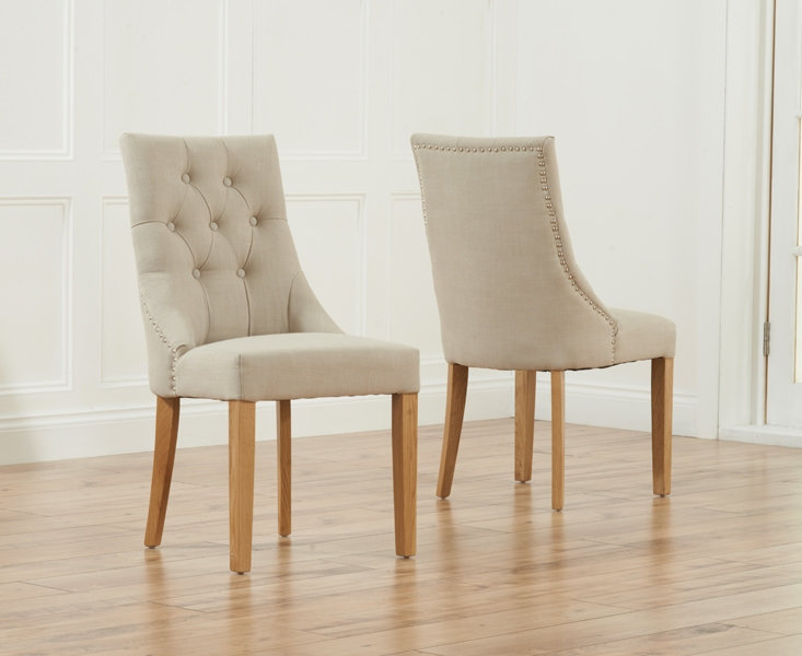 Mark Harris Pailin Beige Dining Chair (Pair)