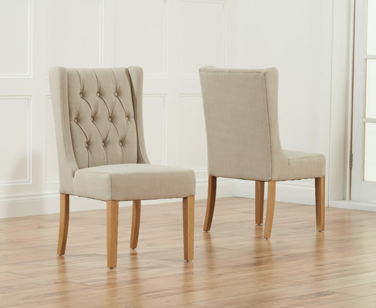 Mark Harris Stefini Beige Dining Chair (Pair)