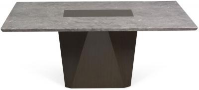 Mark Harris Malina Light Grey Engineered Marble Dining Table