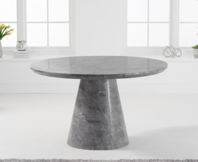 Mark Harris Ramiro Grey Marble Round Dining Table