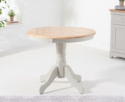 Mark Harris Elstree Grey and Oak Round Dining Table