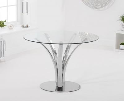 Mark Harris Arina 110cm Round Glass Dining Table