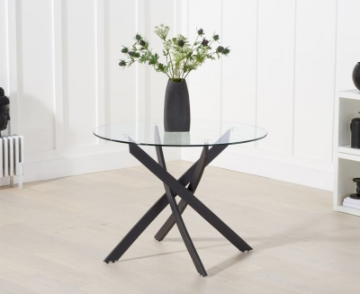 Mark Harris Marina Round Glass Dining Table