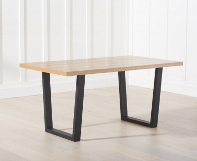 Mark Harris Olina Dining Table - Wood and Metal