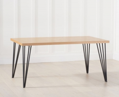 Mark Harris Retiro Dining Table - Ash Wood and Metal