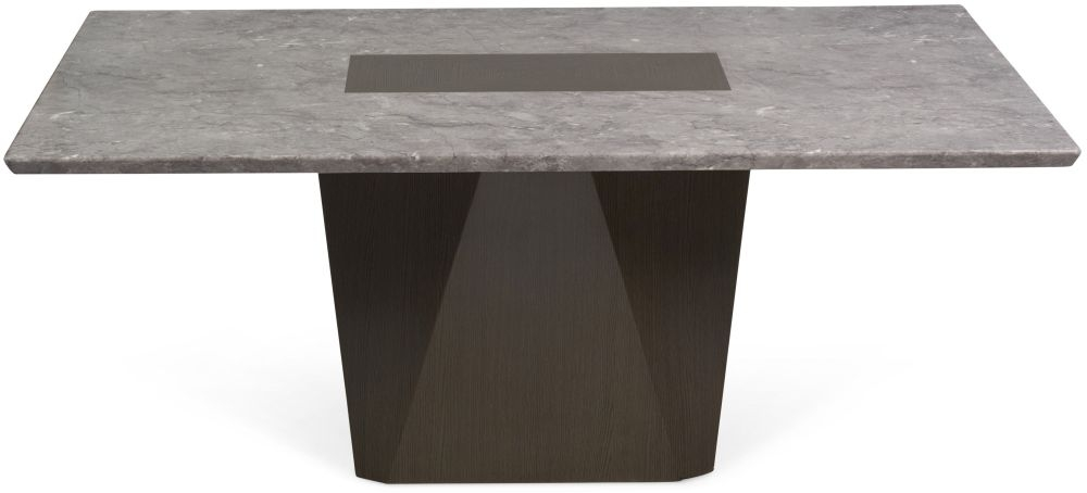 Mark Harris Malina Light Grey Engineered Marble Dining Table