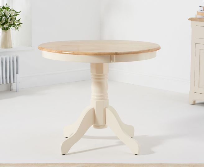 Mark Harris Elstree Cream and Oak Round Dining Table