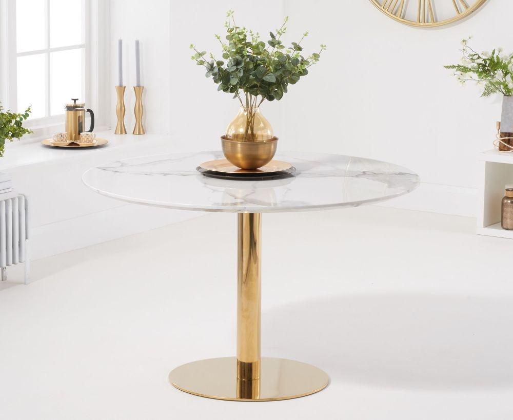 Mark Harris Nevada 120cm Round White Dining Table
