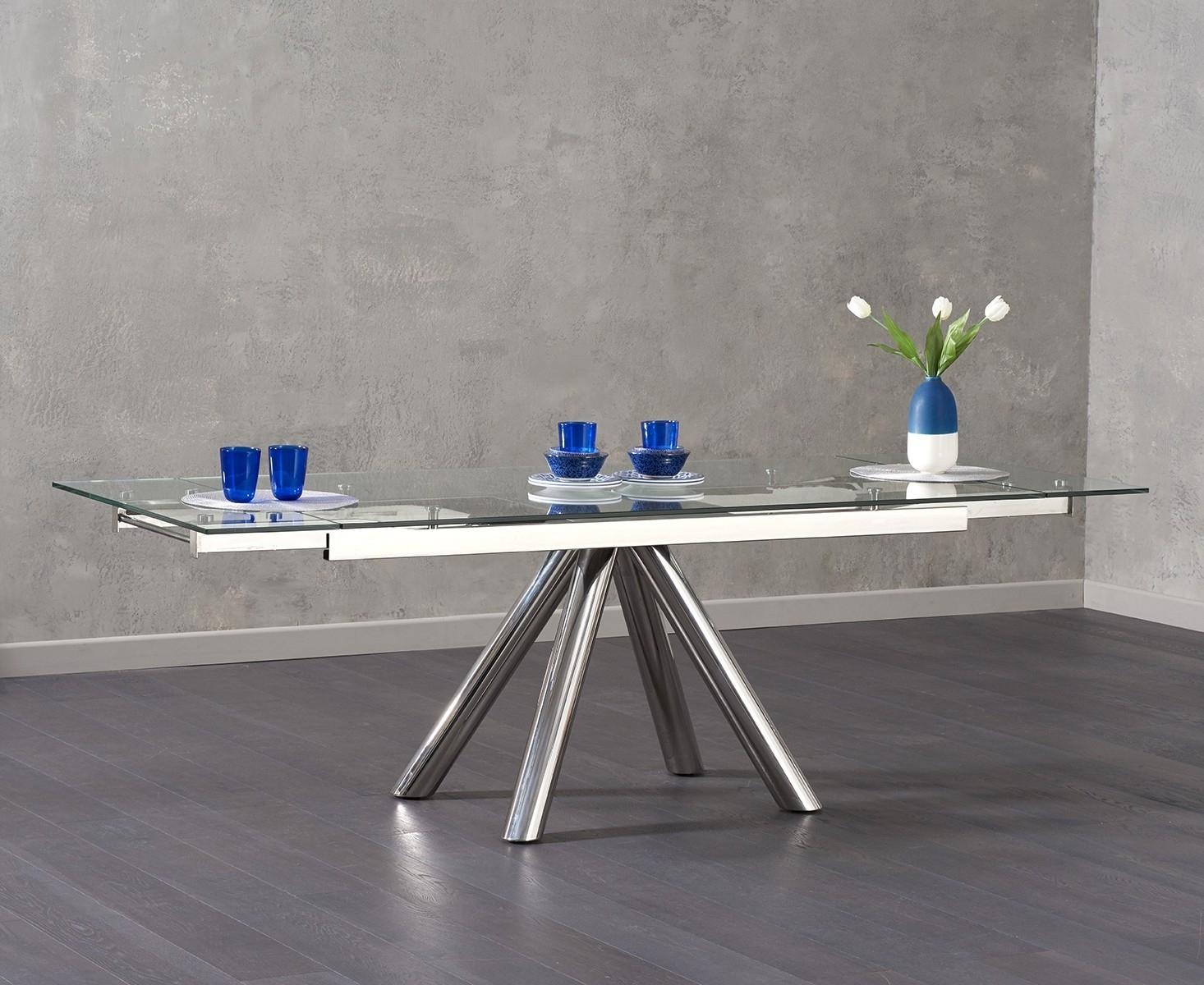 Mark Harris Cameron Glass Dining Table - Extending 180cm