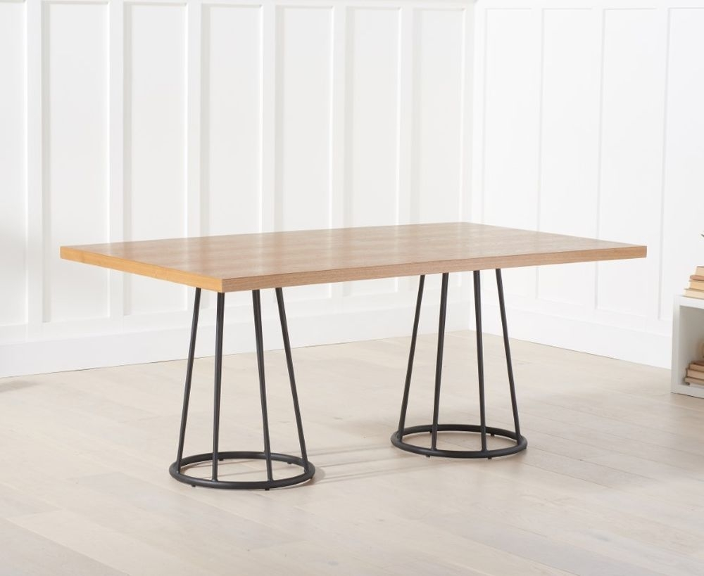 Mark Harris Heron Dining Table - Ash Wood and Metal