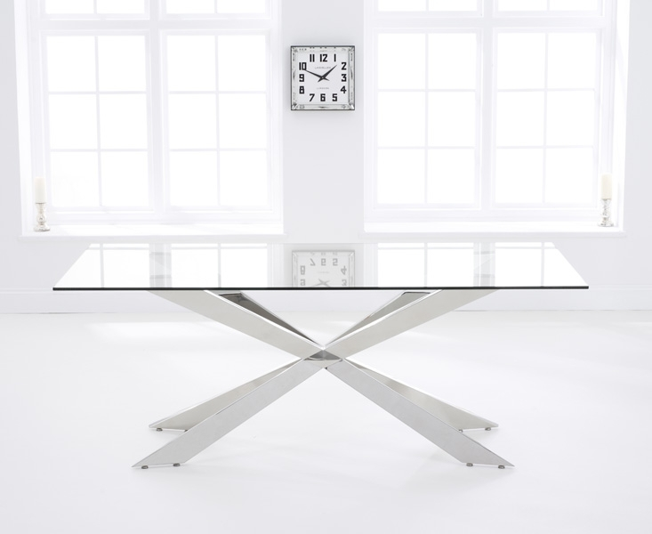 Mark Harris Jazz Large Dining Table - Glass and Chrome