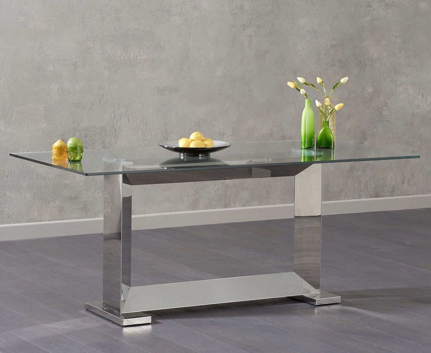 Mark Harris Logan Glass Dining Table - 180cm Rectangular