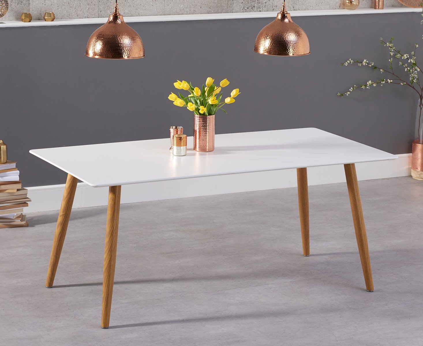 Mark Harris Mansfield Matt White Dining Table - 180cm