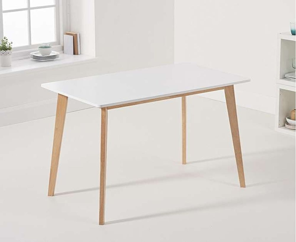 Mark Harris Marcham Dining Table - White and Oak
